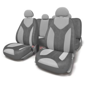 Чехлы для сидений универсальные MATRIX MTX-1105 D.GY-L.GY (M)