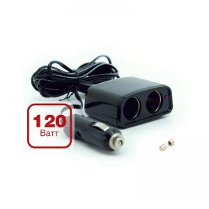 Разветвитель прикуривателя 12/24V (на 2 выхода) AVS CS201