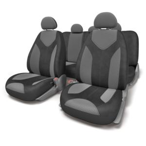 Чехлы для сидений универсальные MATRIX MTX-1105 BK-D.GY (M)