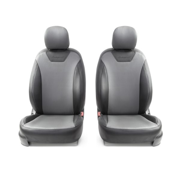 Модельные чехлы AUTOPROFI для Kia Ceed (2012-2018) экокожа, чёрный-темно серый 1