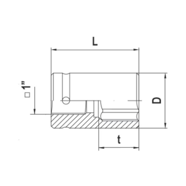 Головка 4-гр для ручного гайковерта х 21мм 1 (под футорку) ДелоТехники 1